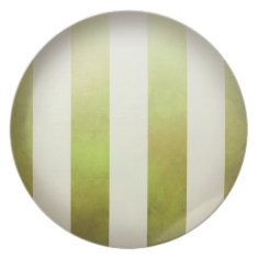 Ombre Watercolor Stripes | pear Party Plate