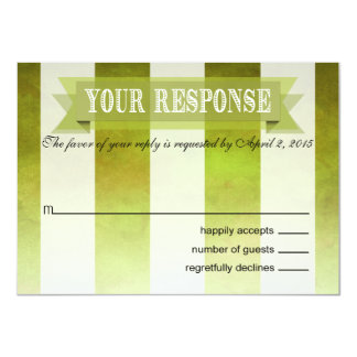 Ombre Watercolor Stripes RSVP Response | pear Card