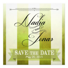Ombre Watercolor Stripes Save the Date | pear Personalized Invite