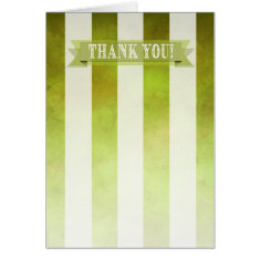Ombre Watercolor Stripes Thank You | pear Card