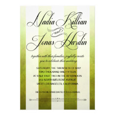 Ombre Watercolor Stripes Wedding | pear Custom Announcements