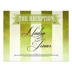 Ombre Watercolor Stripes Wedding Reception | pear Custom Invitations