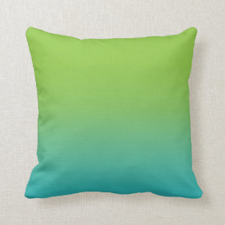 Ombre Watercolor Texture - Teal and Green Sea Throw Pillow