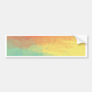 Ombre Watercolor Texture - Teal, Yellow, Coral Bumper Sticker
