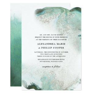 Watercolor Wedding Invitations Announcements Zazzle