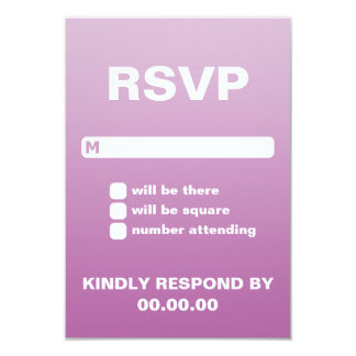 Ombre Wedding RSVP Personalized Invite