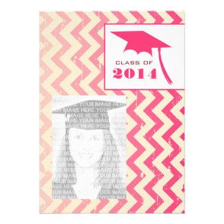 Ombre Zigzag Class of 2014 Graduation Photo Invite