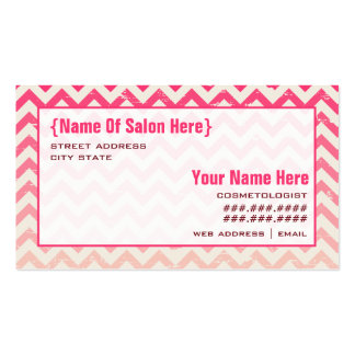 Ombre Zigzag Cosmetologist Salon Appointment Business Cards
