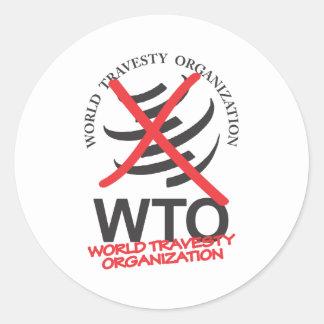 OMC - OMC anti - Organización del disfraz del Pegatina Redonda
