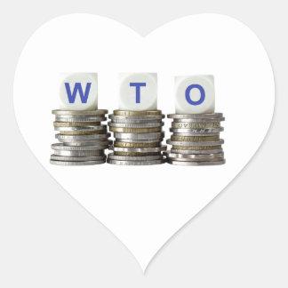 OMC - Organización Mundial del Comercio Pegatina En Forma De Corazón