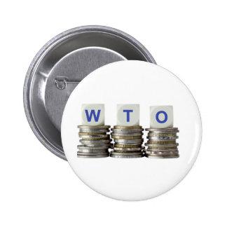 OMC - Organización Mundial del Comercio Pin Redondo De 2 Pulgadas