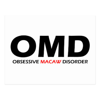 OMD - Obsessive Macaw Disorder Postcard