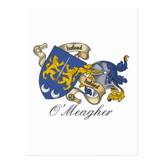 O'Meagher Family Crest Postcard