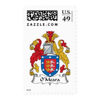O'Meara Family Crest Postage Stamp