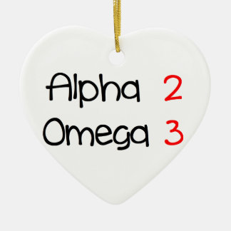 Omega alpha ceramic ornament
