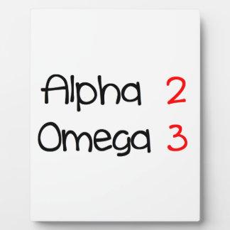 Omega alpha plaque