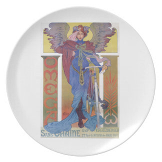 Omega Bicycle Poster Dinner Plate
