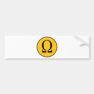 Omega Car Bumper Sticker