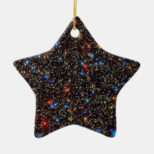 Omega Centauri giant star cluster Double-Sided Star Ceramic Christmas Ornament