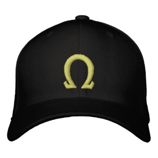 omega embroidered hat