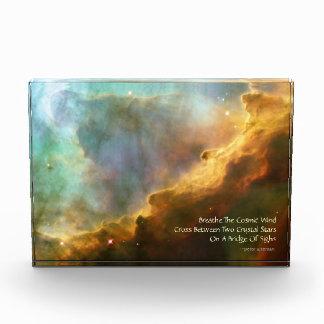 Omega Nebula Celestial Haiku Acrylic Sculpture Acrylic Award