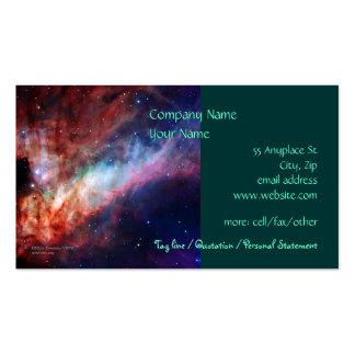 Omega Nebula, Messier 17 - business card template