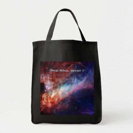 Omega Nebula, Messier 17 Grocery Tote Bag