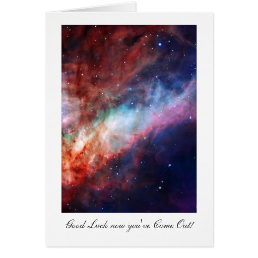 Omega Nebula, Messier 17 - Luck with Coming Out Greeting Card