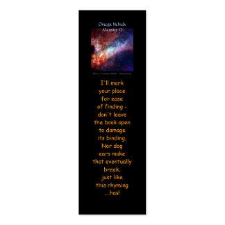 Omega Nebula, Messier 17 mini-bookmark Mini Business Card