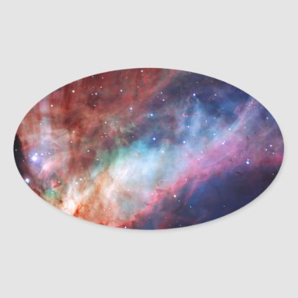 Omega Nebula - Our Amazing Universe Oval Sticker