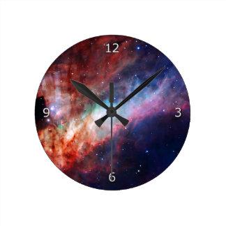 Omega Nebula - Our Awesome Universe Round Clock