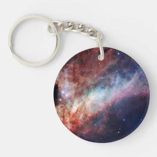 Omega Nebula Space Astronomy Double-Sided Round Acrylic Keychain
