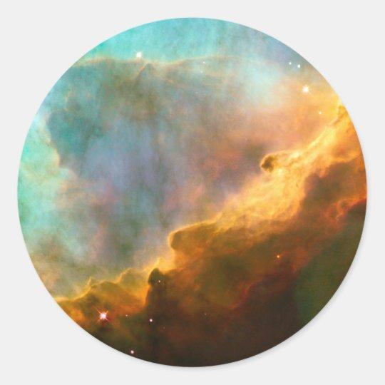 Omega Nebula Stellar Nursery Classic Round Sticker