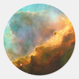 Omega Nebula Stellar Nursery Round Stickers