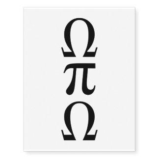 Omega Pi Omega Temporary Tattoos
