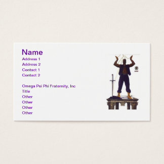 Fraternal business cards templates zazzle omega psi phi fraternity business card reheart Image collections