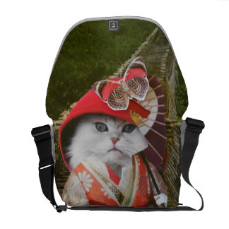 Omega Pussy Cat Courier Bag