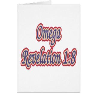 Omega Revelation 1:8 Greeting Card