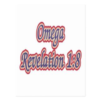 Omega Revelation 1:8 Postcard
