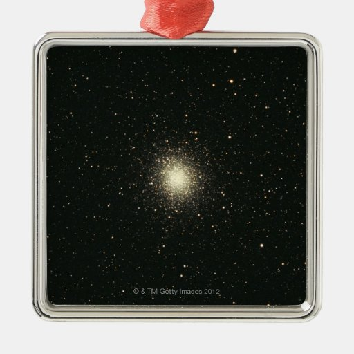 Omega Star Cluster 2 Square Metal Christmas Ornament