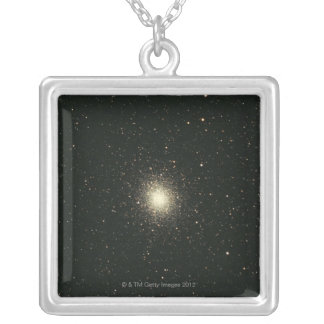 Omega Star Cluster 2 Silver Plated Necklace