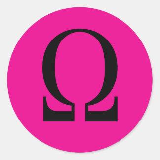Omega Classic Round Sticker