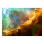 Omega / Swan Nebula Hubble Space Business Card Template