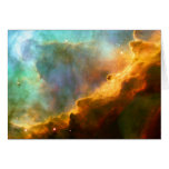 Omega Swan Nebula Hubble Space Greeting Card
