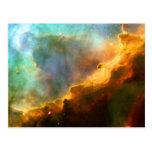 Omega Swan Nebula Hubble Space Postcards