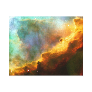 Omega / Swan Nebula (Hubble Telescope) Canvas Print