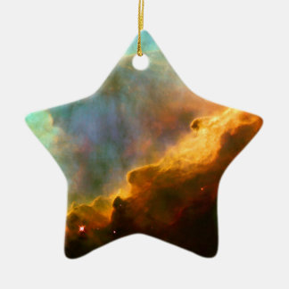 Omega / Swan Nebula (Hubble Telescope) Ceramic Ornament