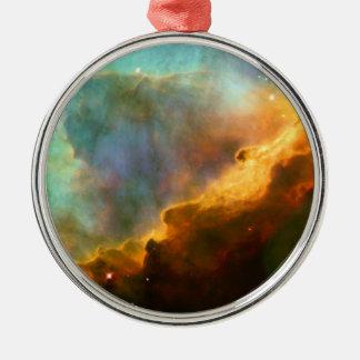 Omega / Swan Nebula (Hubble Telescope) Metal Ornament