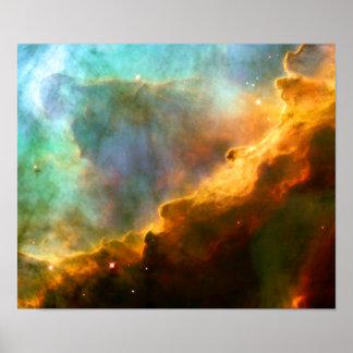 Omega / Swan Nebula (Hubble Telescope) Poster