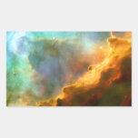 Omega / Swan Nebula (Hubble Telescope) Rectangle Stickers